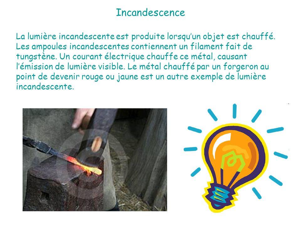 Fluorescence La lumière fluorescente est produite lorsque de la lumière interagit avec différentes sortes de substances qui sont « luminophores ».