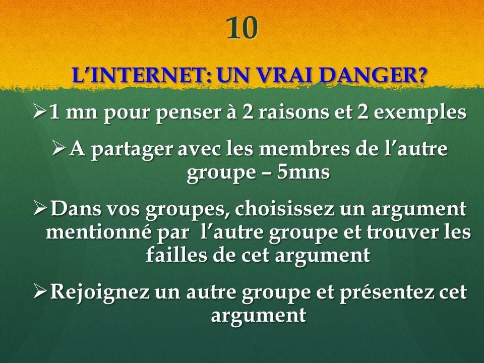10 LINTERNET: UN VRAI DANGER.