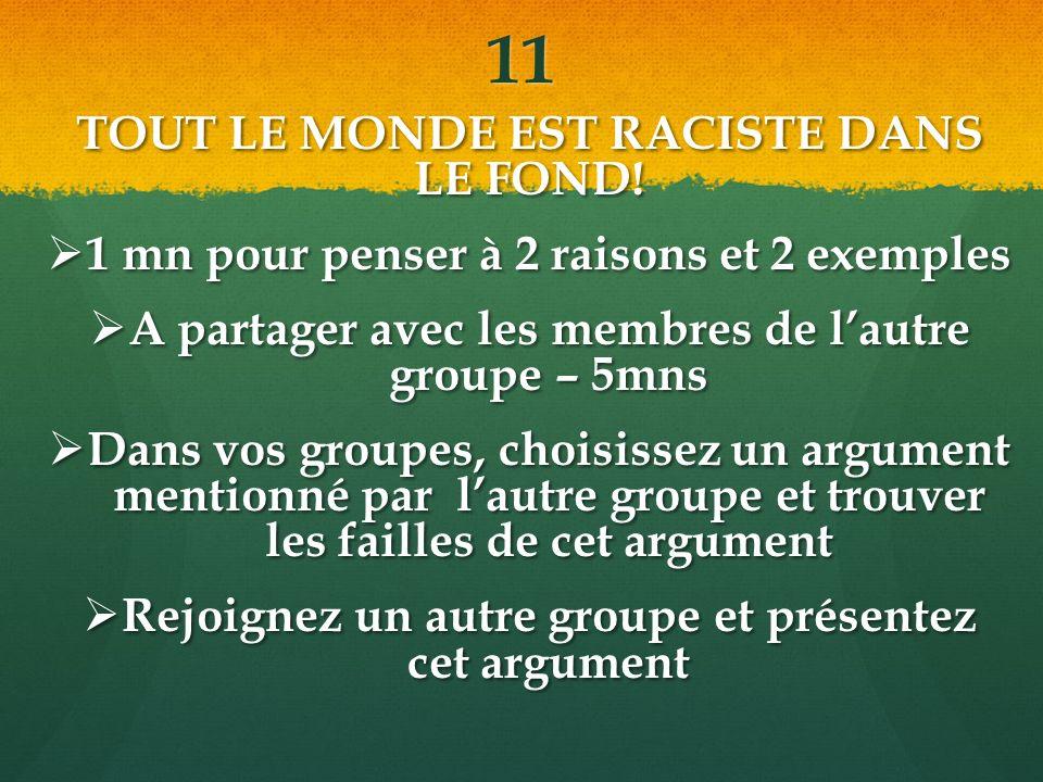 11 TOUT LE MONDE EST RACISTE DANS LE FOND.