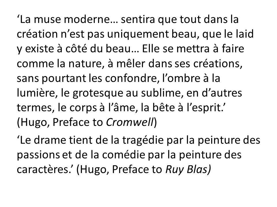 La muse moderne… sentira que tout dans la création nest pas uniquement beau, que le laid y existe à côté du beau… Elle se mettra à faire comme la natu