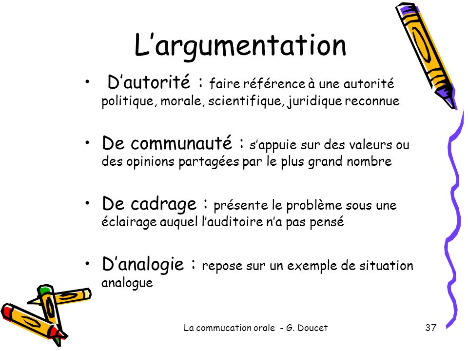 La commucation orale - G.
