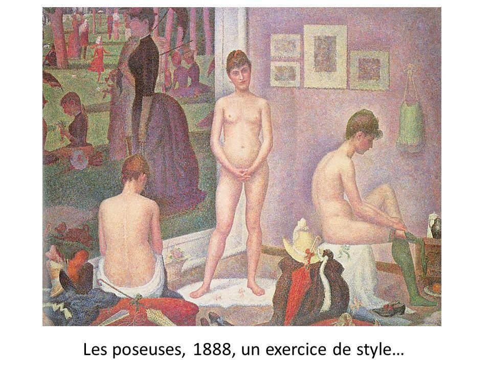 Les poseuses, 1888, un exercice de style…
