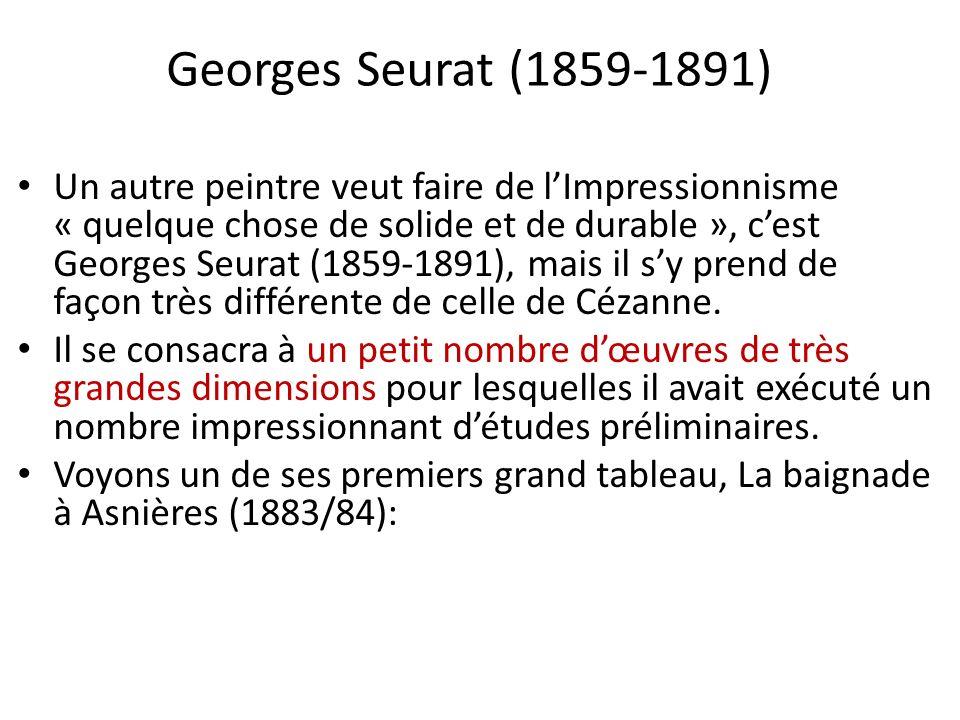 Georges Seurat (1859-1891) Un autre peintre veut faire de lImpressionnisme « quelque chose de solide et de durable », cest Georges Seurat (1859-1891),