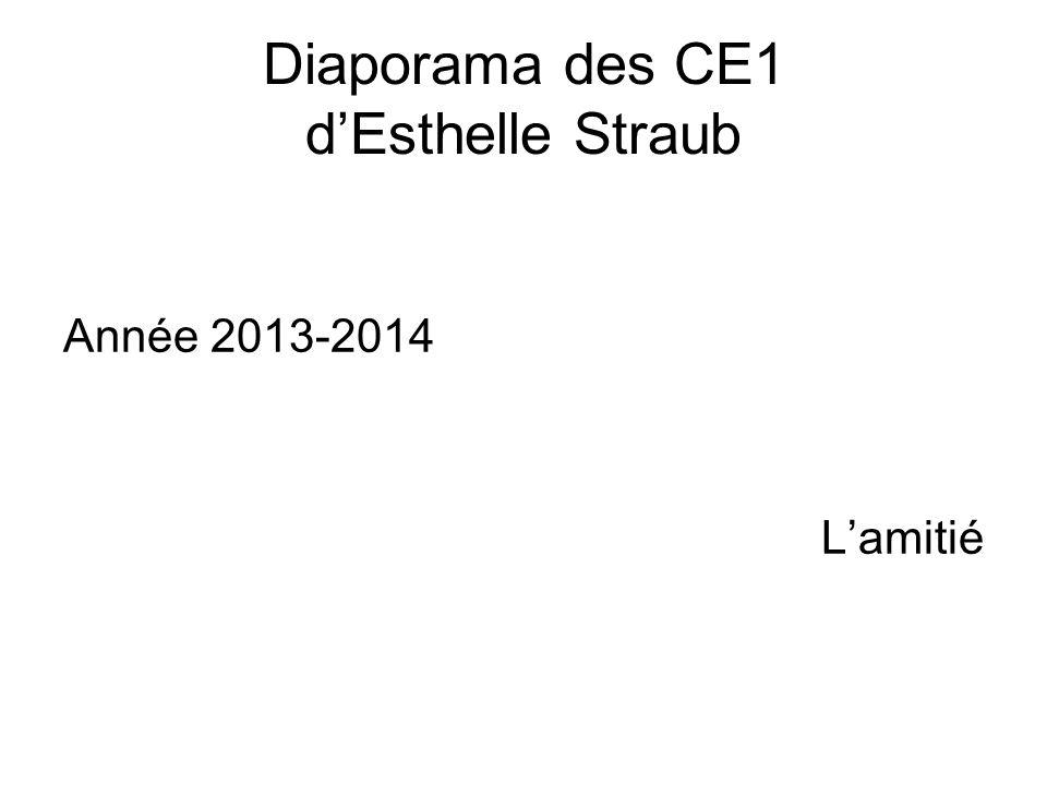 Diaporama des CE1 dEsthelle Straub Année 2013-2014 Lamitié