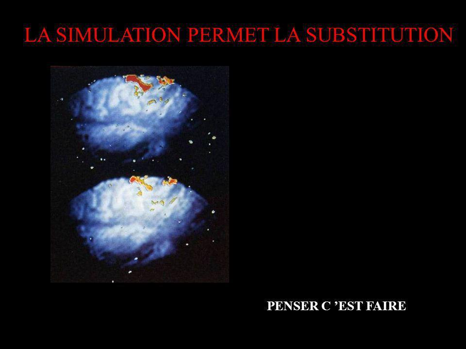 PENSER C EST FAIRE LA SIMULATION PERMET LA SUBSTITUTION