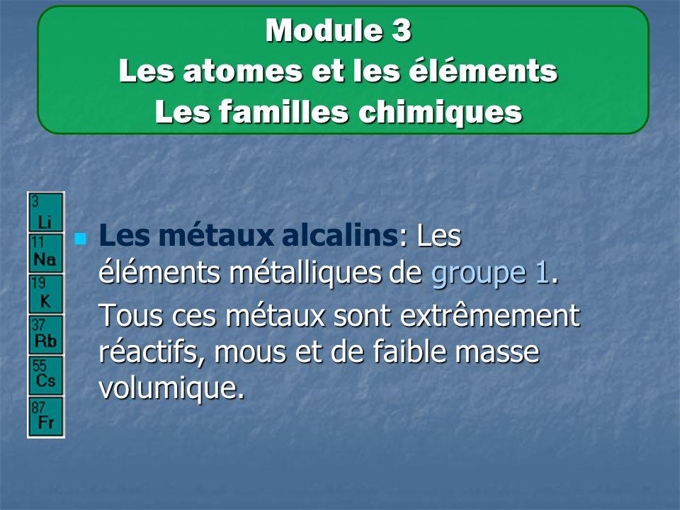 : Les éléments métalliques de groupe 1.Les métaux alcalins: Les éléments métalliques de groupe 1.