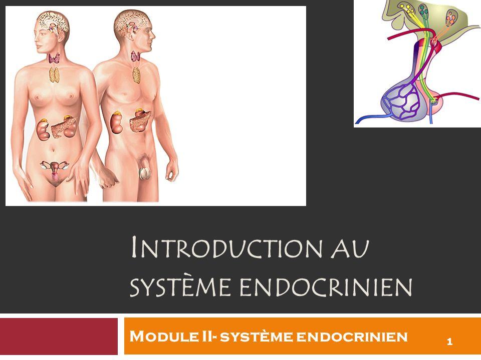 I NTRODUCTION AU SYSTÈME ENDOCRINIEN 1 1 Module II- système endocrinien