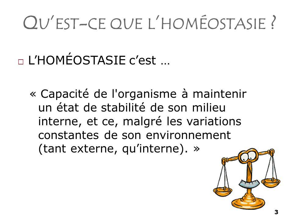 3 Q U EST - CE QUE L HOMÉOSTASIE .