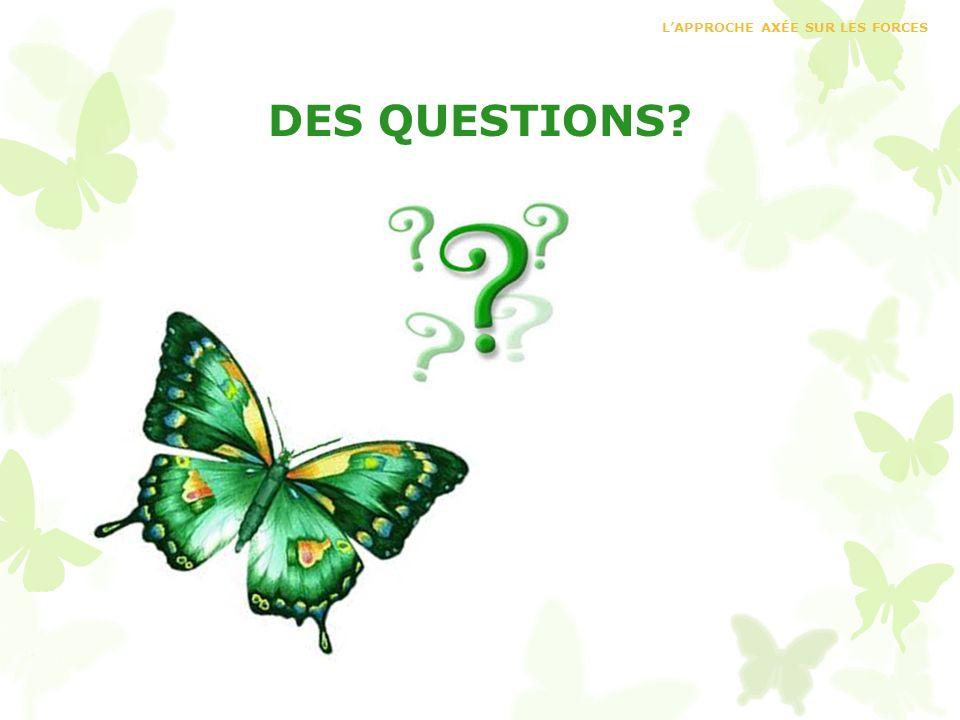 DES QUESTIONS? LAPPROCHE AXÉE SUR LES FORCES