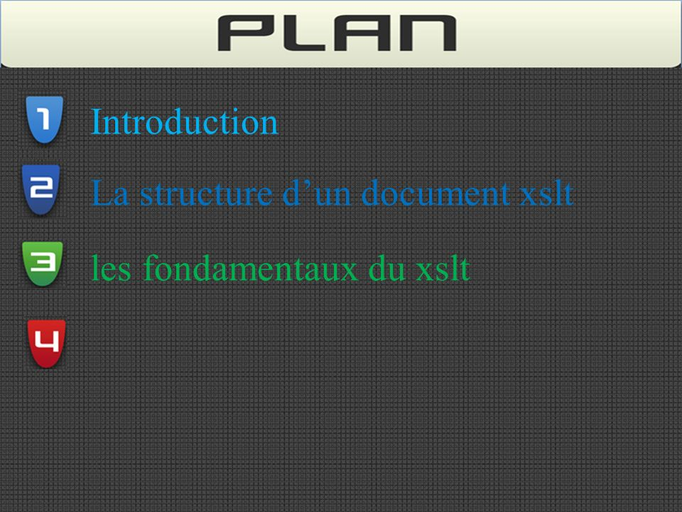 Introduction La structure dun document xslt les fondamentaux du xslt