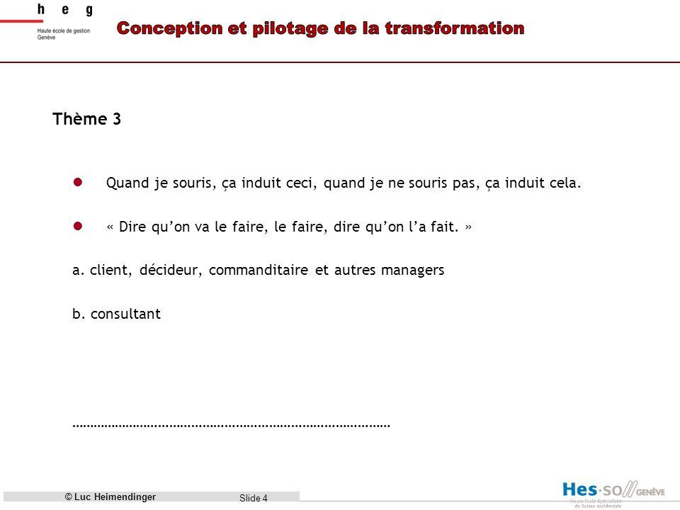 Slide 5 Thème 4 Organes Indicateurs Méthode Direction, sens...