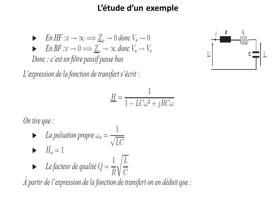Létude dun exemple