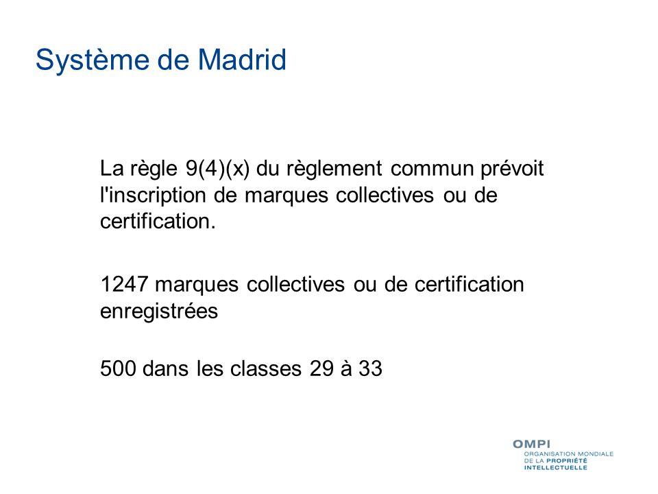 La règle 9(4)(x) du règlement commun prévoit l inscription de marques collectives ou de certification.
