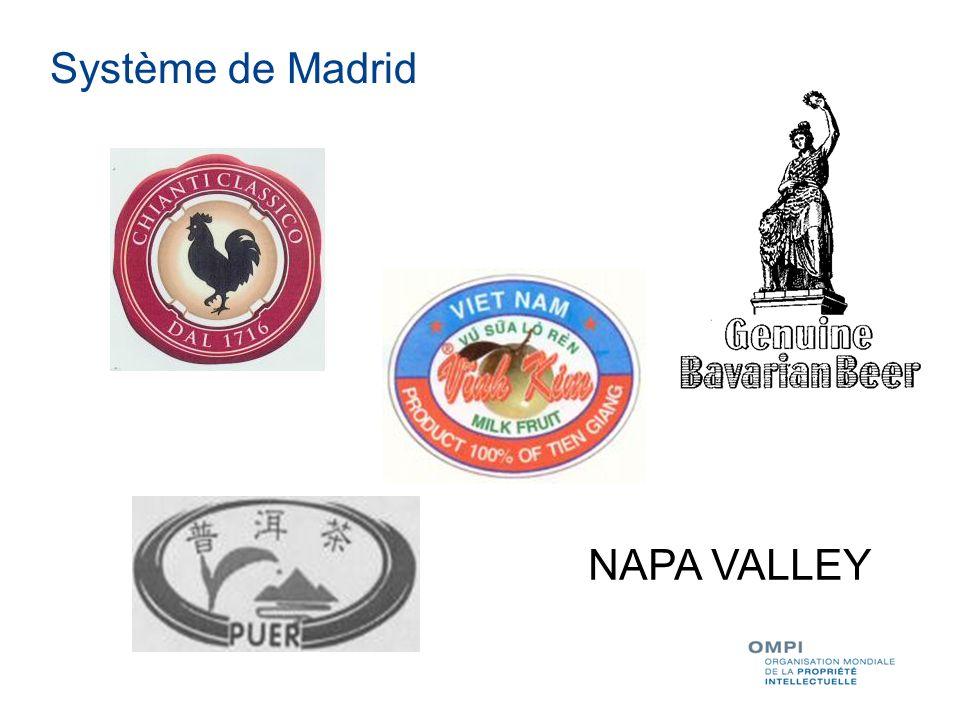 Système de Madrid NAPA VALLEY