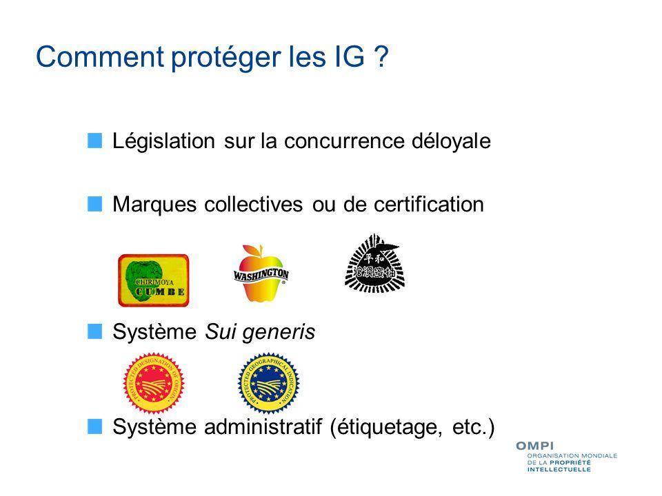 Comment protéger les IG .