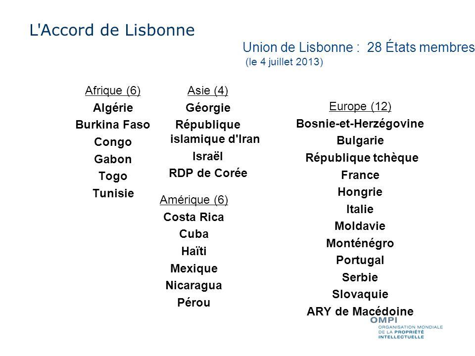 Union de Madrid 1 Accord seulement 34 Protocole uniquement (dont UE) 55 Accord et Protocole 90 membres