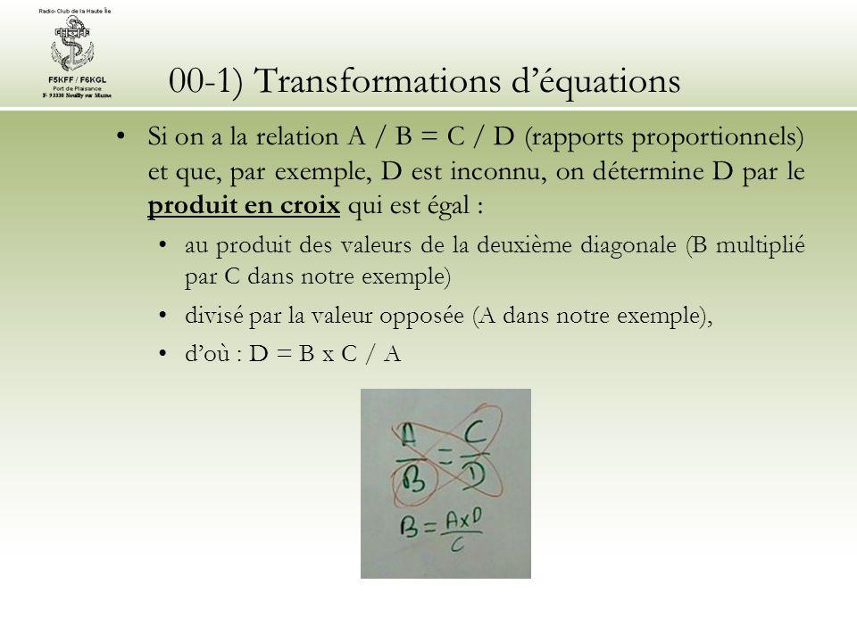 00-2) Puissances de 10, multiples et sous-multiples Pour faciliter la lecture des nombres qui peuvent être très grands ou très petits dans les applications radio, les multiples et sous-multiples sont utilisés.