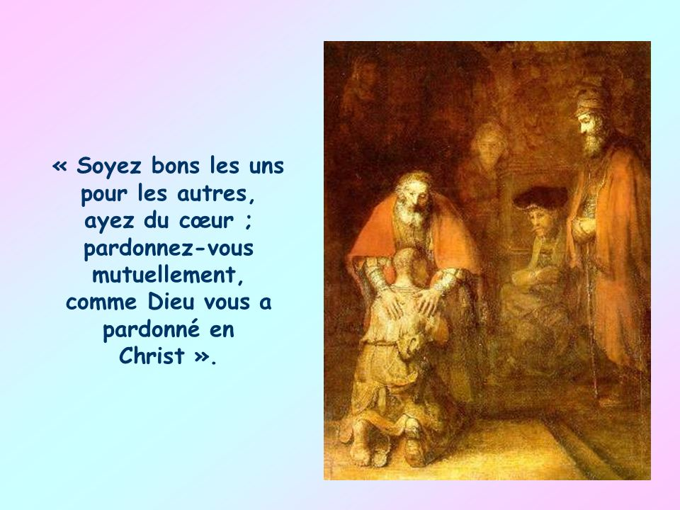 Le don du Christ, lunité, doit sans cesse être ravivé et traduit en comportements sociaux concrets, entièrement inspirés par lamour réciproque. Doù ce