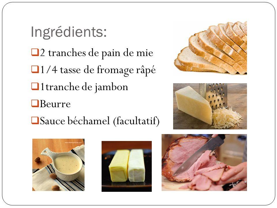 Croque–Monsieur + un œuf frit = Croque-Madame
