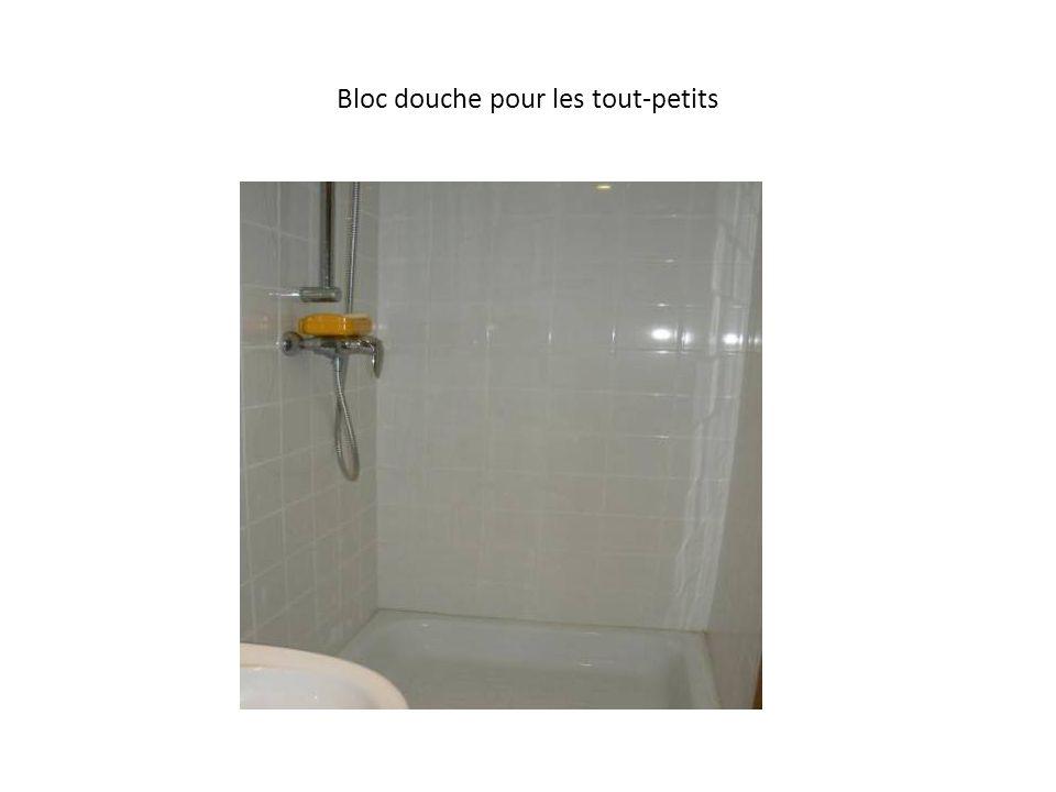 Bloc douche pour les tout-petits