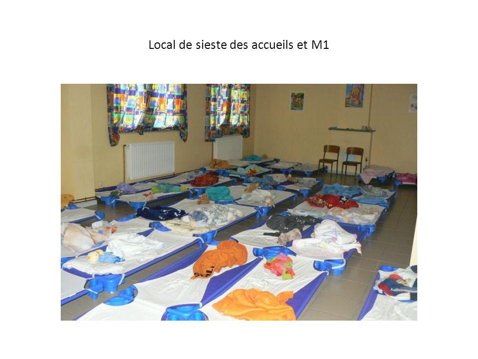 Local de sieste des accueils et M1