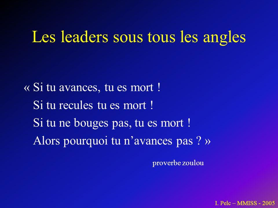 Les leaders sous tous les angles « Si tu avances, tu es mort ! Si tu recules tu es mort ! Si tu ne bouges pas, tu es mort ! Alors pourquoi tu navances