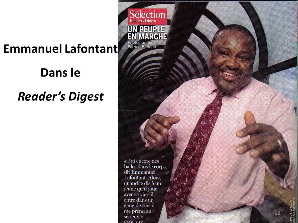 Emmanuel Lafontant Dans le Readers Digest 22