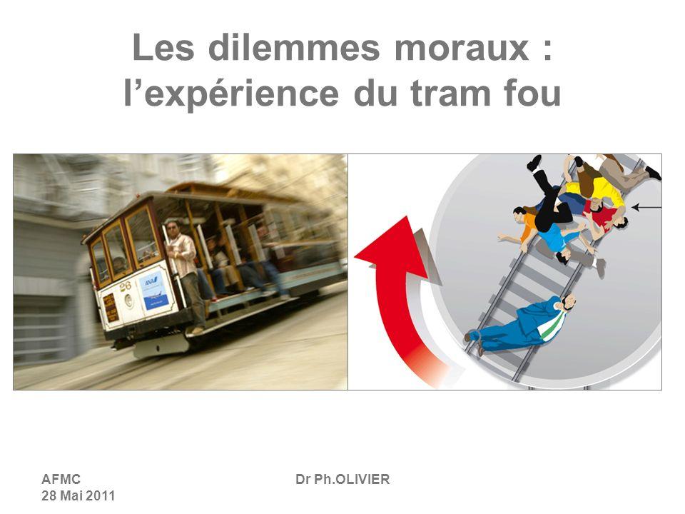 AFMC 28 Mai 2011 Dr Ph.OLIVIER Les dilemmes moraux : lexpérience du tram fou