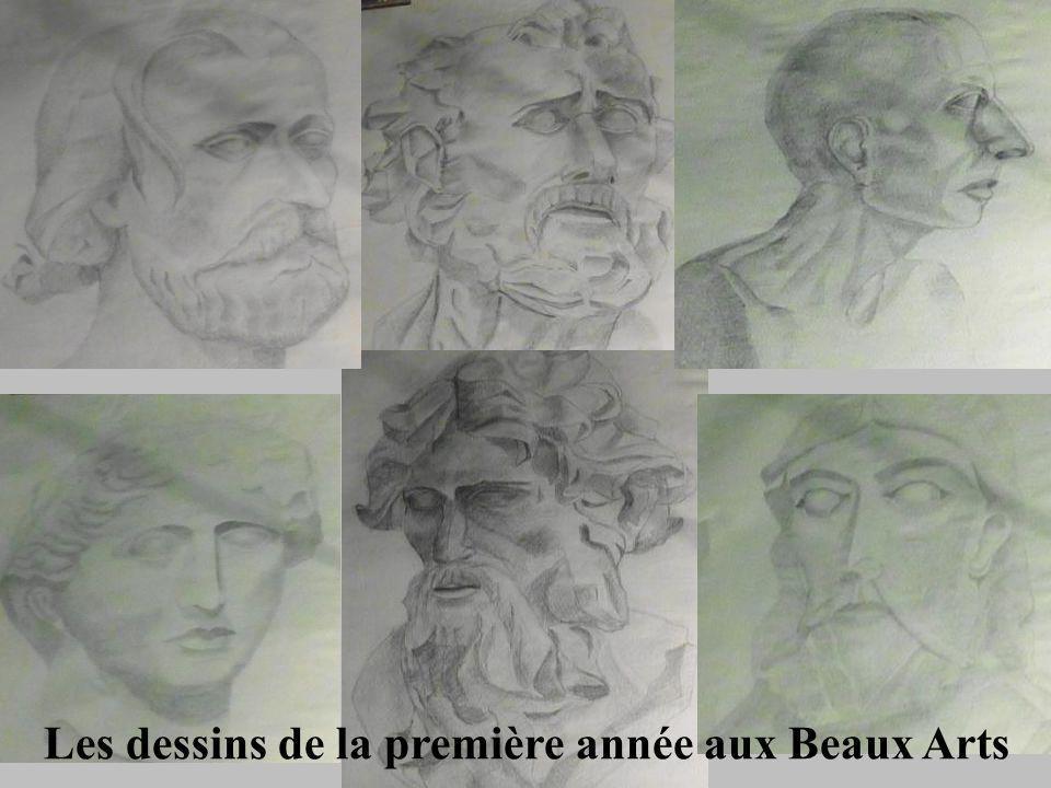 Les dessins de la première année aux Beaux Arts