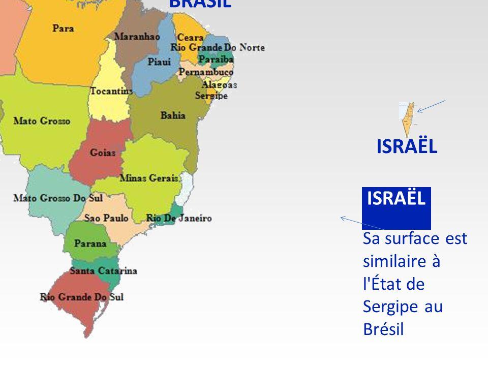 Sa surface est similaire à l État de Sergipe au Brésil BRASIL