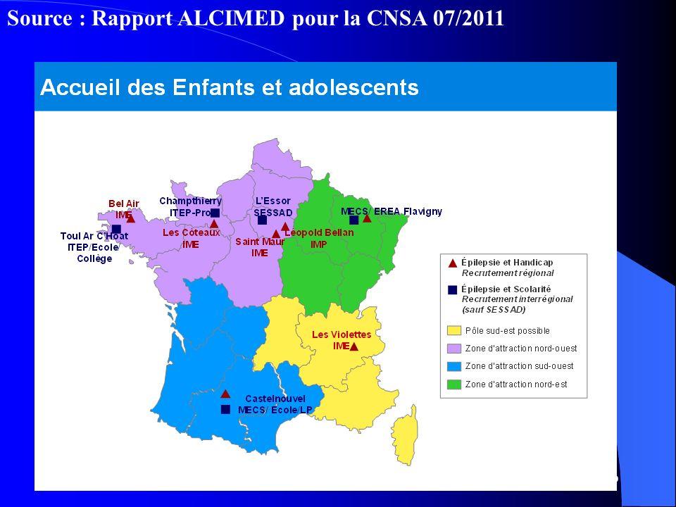 10 Source : Rapport ALCIMED pour la CNSA 07/2011