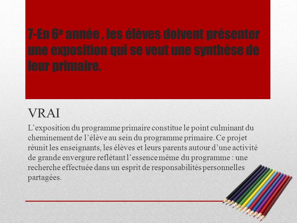 8-Lécole Bois-Joli-Sacré-Coeur offre le programme déducation internationale depuis 10 ans.