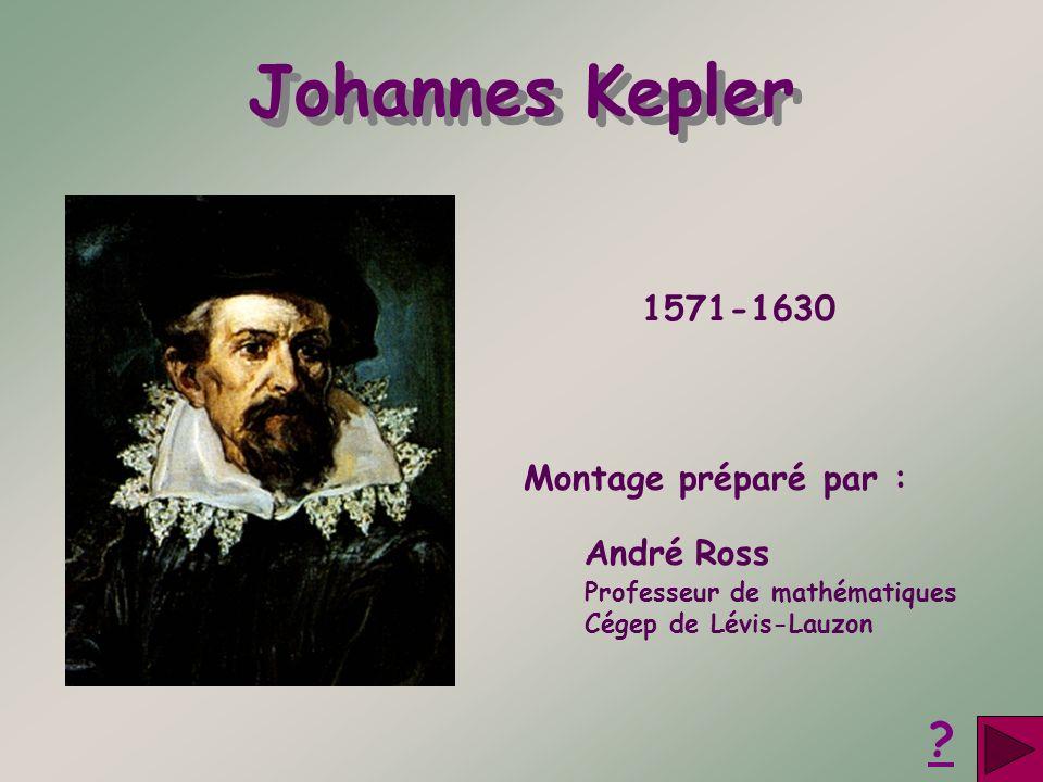 Montage préparé par : André Ross Professeur de mathématiques Cégep de Lévis-Lauzon Johannes Kepler ? 1571-1630