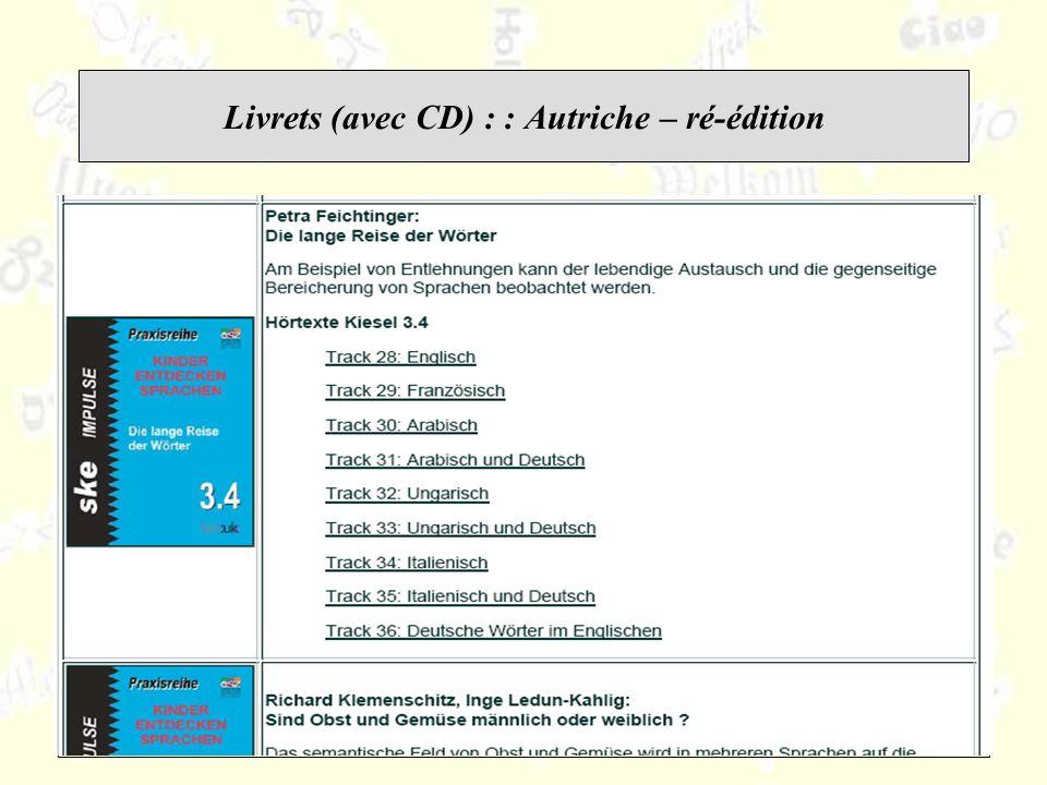 Livrets (avec CD) : : Autriche – ré-édition