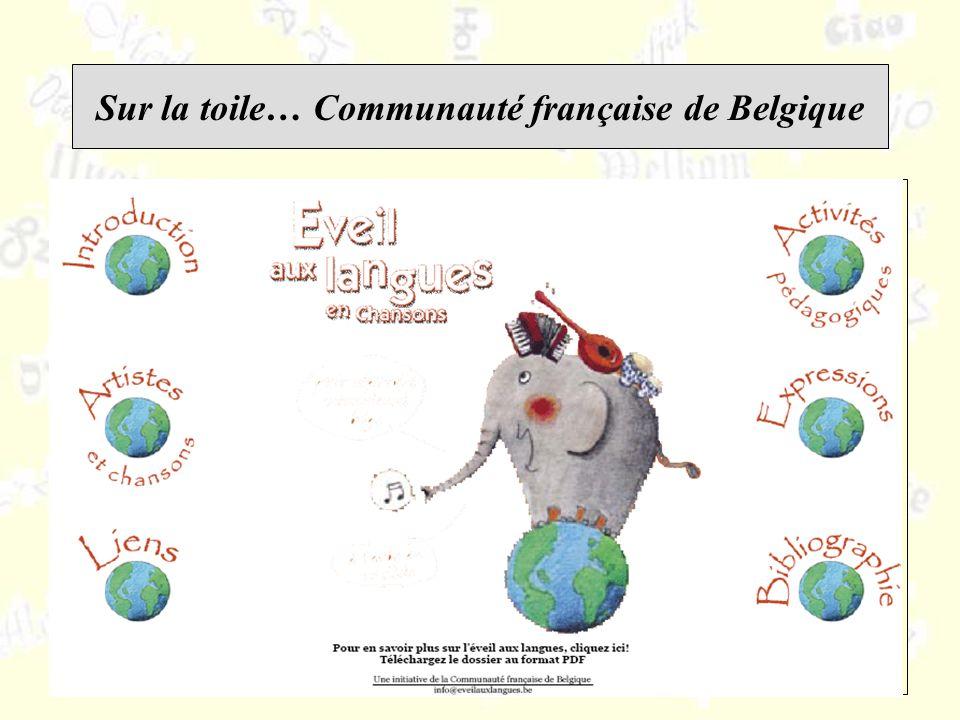 Sur la toile… Communauté française de Belgique
