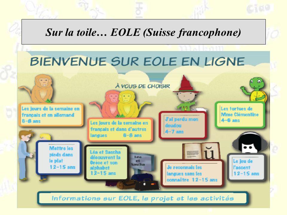 Sur la toile… EOLE (Suisse francophone)