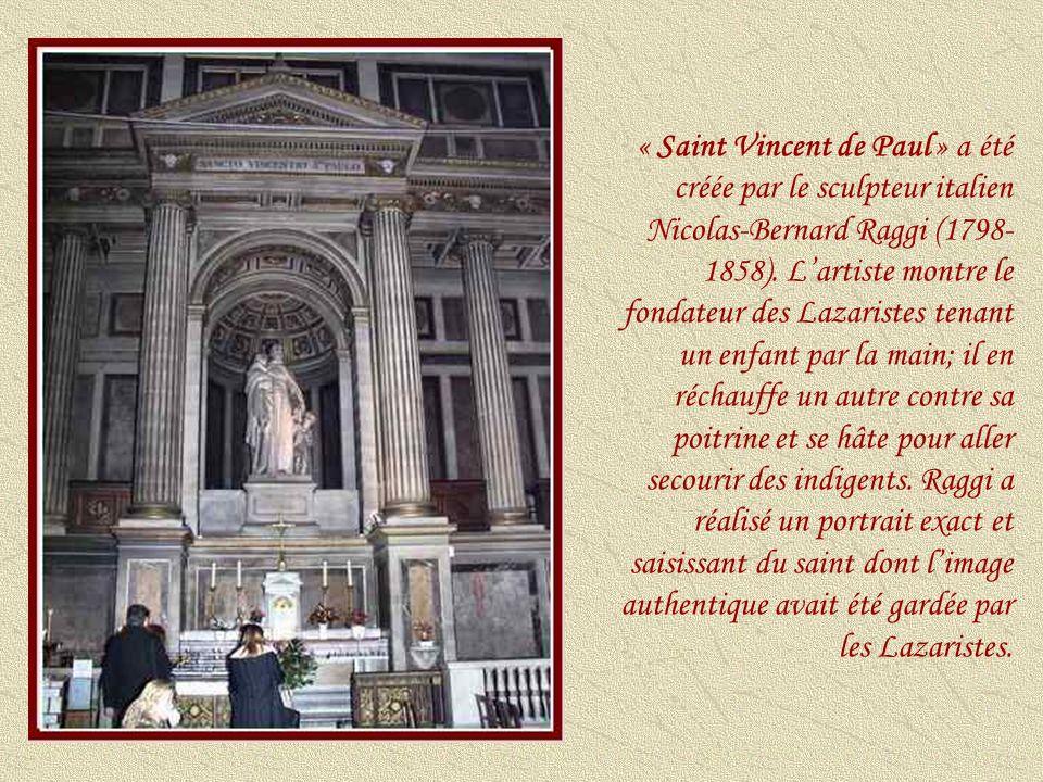 « Sainte-Clotilde » sculptée par Antoine-Louis Barye (1795-1875) a été commandée en 1835 et achevée sept années plus tard.