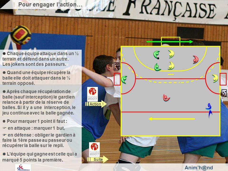 Animh@nd Chaque équipe attaque dans un ½ terrain et défend dans un autre.