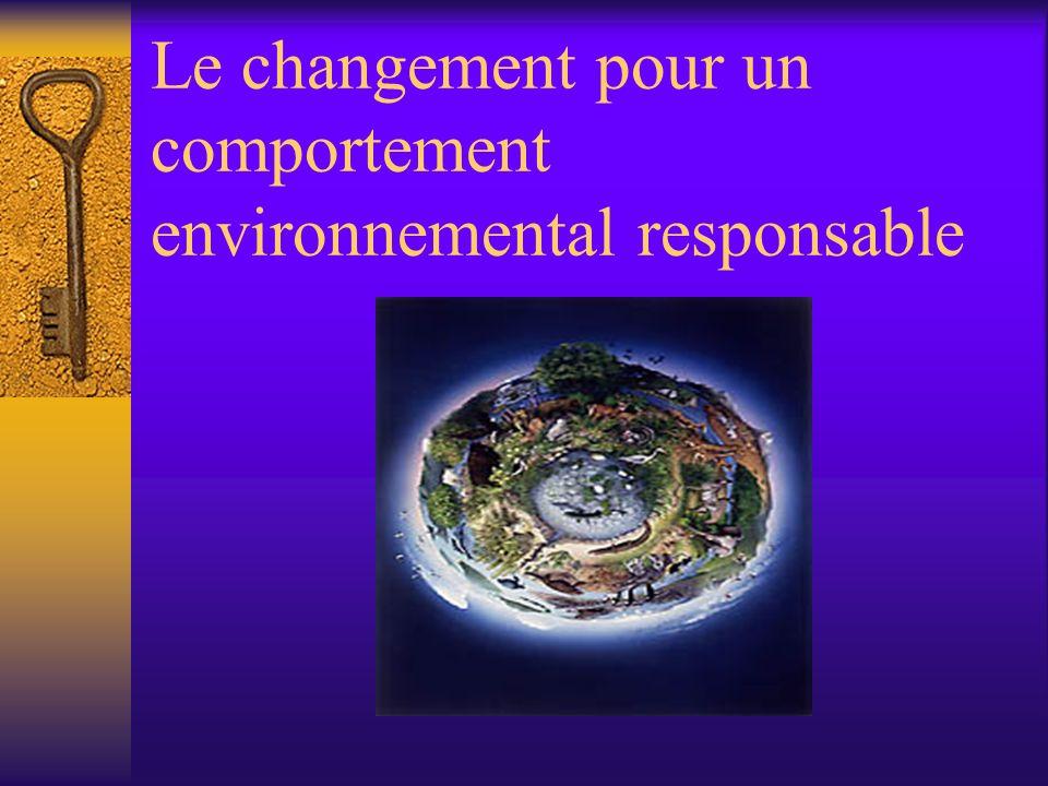 Le changement pour un comportement environnemental responsable