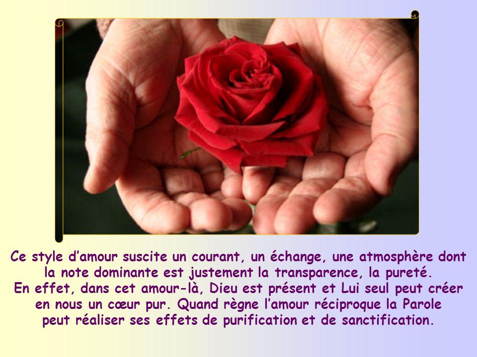 Cependant, une certaine forme damour, objet dun commandement de Jésus, nous aide spécialement à vivre cette béatitude. Cest lamour réciproque, lamour