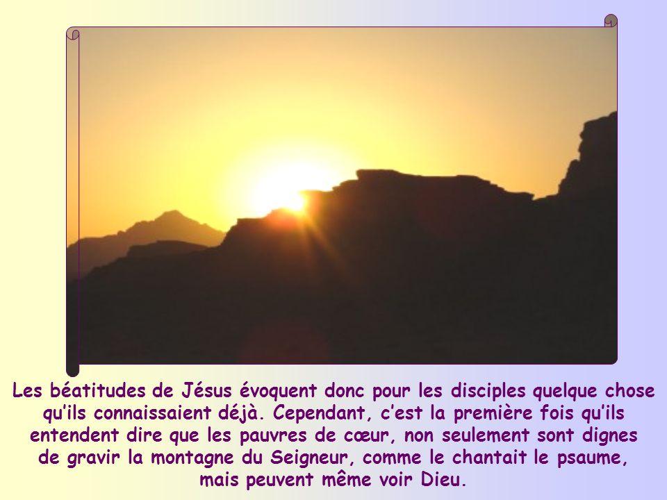Déjà à plusieurs reprises, lAncien Testament déclarait « bienheureux » celui qui accomplit, dune manière ou dune autre, la Parole du Seigneur.