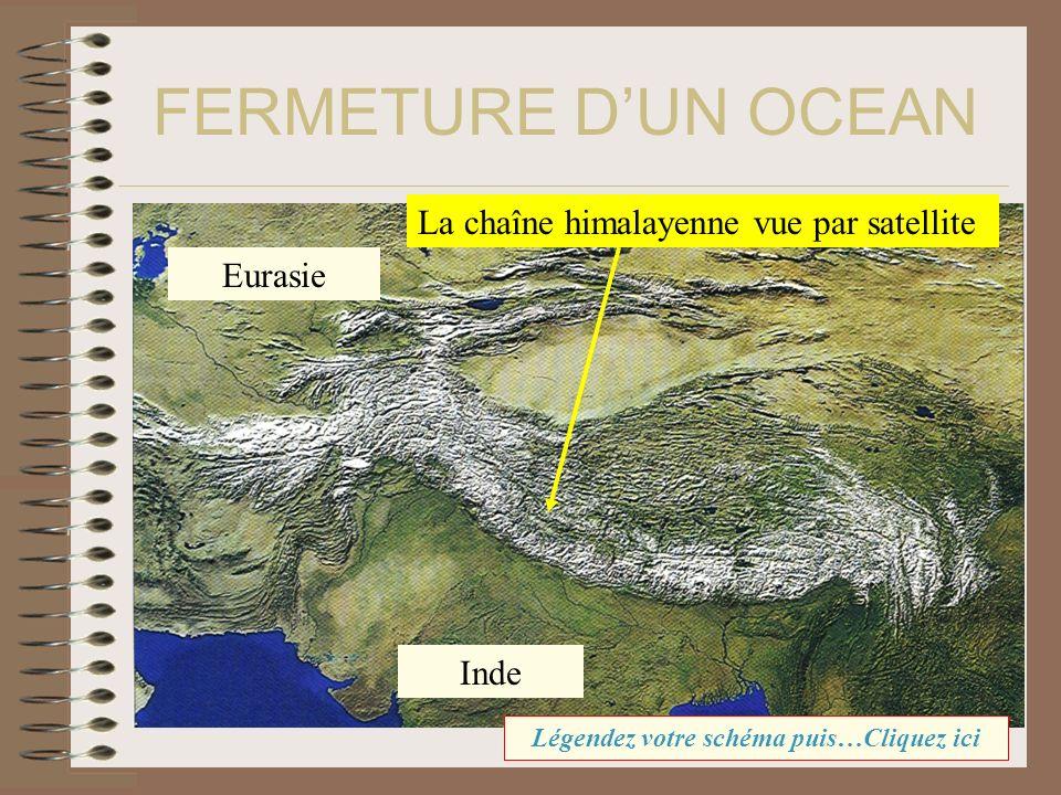 FERMETURE DUN OCEAN La chaîne himalayenne vue par satellite Eurasie Inde Légendez votre schéma puis…Cliquez ici