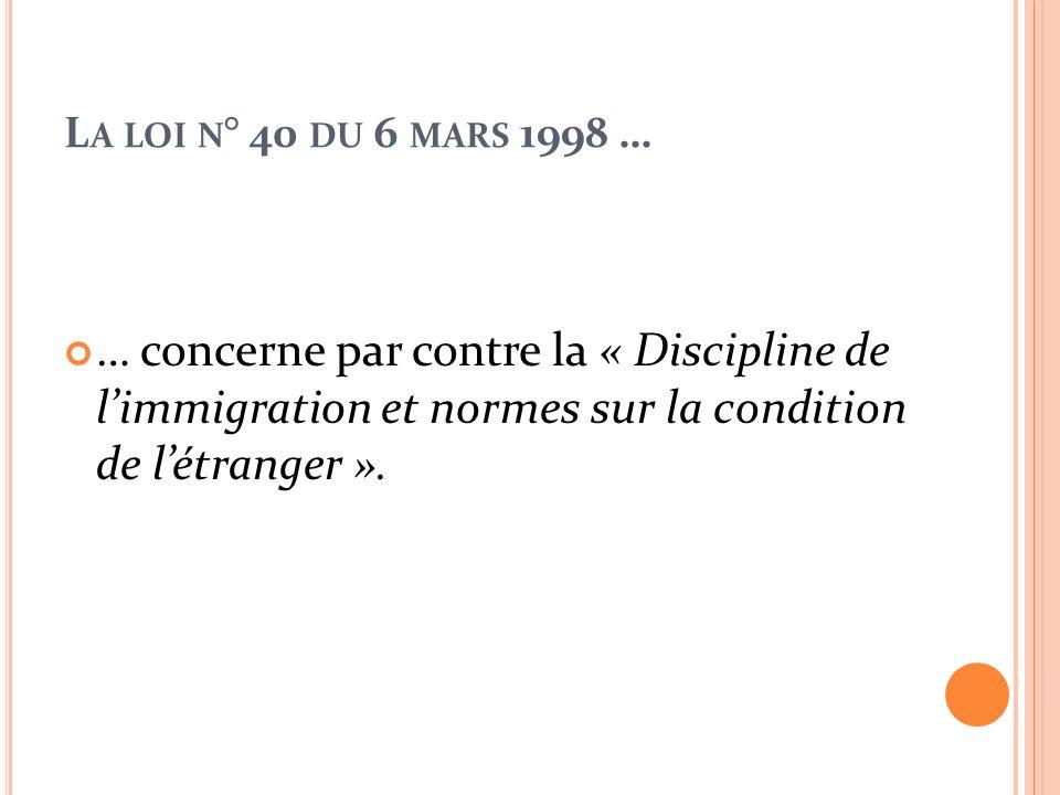 L E THÈME DE L INSERTION DES ÉLÈVES ÉTRANGERS EST REPRIS ENCORE PAR LE D.P.R. N °394 DU 31 AOÛT 1999. Et par la Circulaire Ministérielle n°205 de 1990