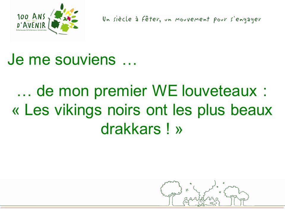 … de mon premier WE louveteaux : « Les vikings noirs ont les plus beaux drakkars ! »