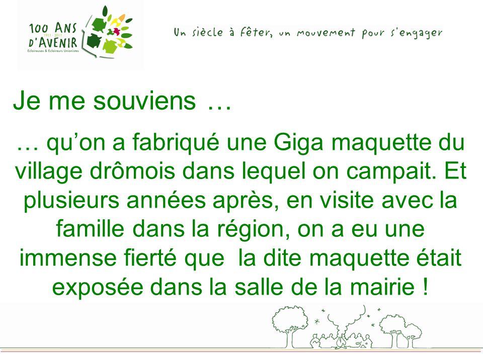 … quon a fabriqué une Giga maquette du village drômois dans lequel on campait.