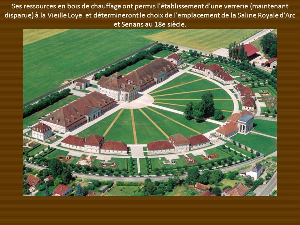 Ses ressources en bois de chauffage ont permis l établissement d une verrerie (maintenant disparue) à la Vieille Loye et détermineront le choix de l emplacement de la Saline Royale d Arc et Senans au 18e siècle.