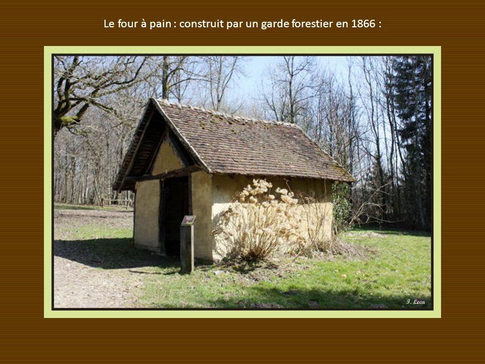 Le four à pain : construit par un garde forestier en 1866 :