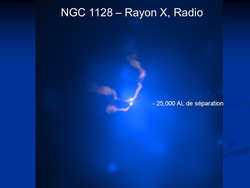 - 25,000 AL de séparation NGC 1128 – Rayon X, Radio