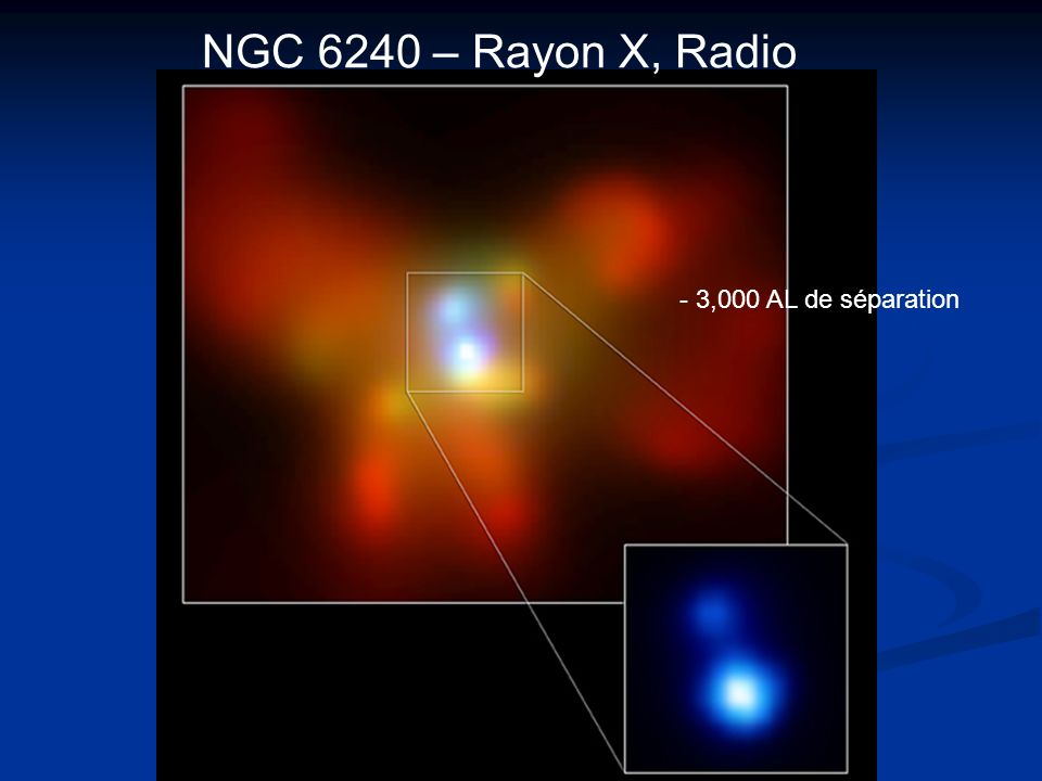 - 3,000 AL de séparation NGC 6240 – Rayon X, Radio