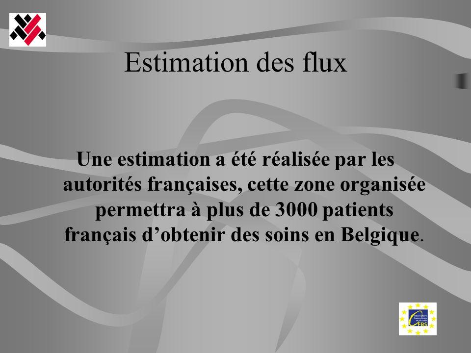 Estimation des flux Une estimation a été réalisée par les autorités françaises, cette zone organisée permettra à plus de 3000 patients français dobten